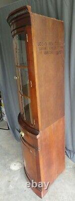 01 DREXEL Mahogany Bow Glass Corner China Cabinet Curio