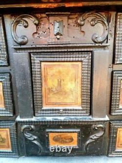 17th Century Flemish Antique Collectors Cabinet in Country House Condition