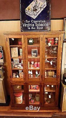 1890-1900 Oak 6 door general store display cabinet