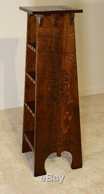 1900 Gustav Stickley Tree of Life antique shelf stand
