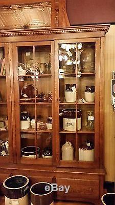 1900 Oak 4 Door library general store display cabinet