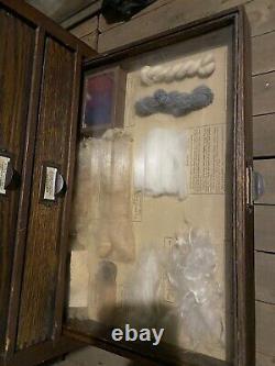 1900s Oak Cabinet Philadelphia Commercial Museum Apothecary Industrial School
