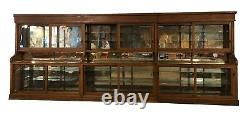 1900s Pharmacy Back Bar 20 Ft Apothecary Display Cabinet 1890-1900 Original