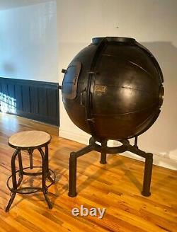 1920's Bulb Tester Converted to Industrial Bar Cabinet by Restoration Hardware