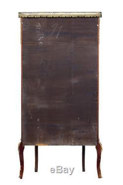 1920's FRENCH WALNUT AND ORMOLU VITRINE DISPLAY CABINET