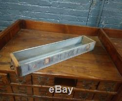 1920s WC Heller Nut and Bolt Cabinet Hardware Store Apothecary Counter Jewelery