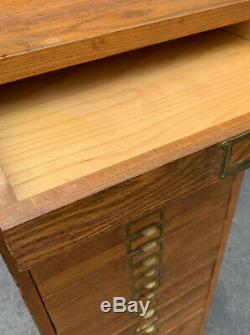 1949 Corbin Cabinet Map/Document OAK Cabinet from Post Office Stamped RARE