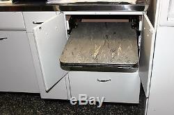 1950 Geneva Metal Kitchen Cabinet with Pop UP Work Station & Drawer