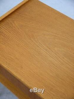 1960s VINTAGE ORIGINAL PAIR DANISH OAK BEDSIDE TABLES AB CARLSTROM DENMARK