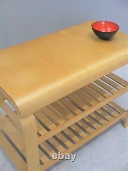 1990s VINTAGE ORIGINAL MID-CENTURY ALVAR AALTO SIDE COFFEE TABLE BENT BIRCH PLY