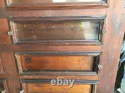 19th century primitive country store seed bin cabinet PINE 101 x 59 x 18