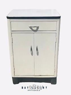 20th C Art Deco Steel Medical / Dental Cabinet Industrial Walters Mfg Co