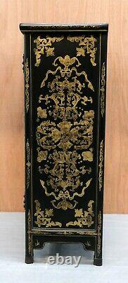 20th Century Vintage Chinese Cabinet By Jinlong Beijing Gold Inlaid Furniture