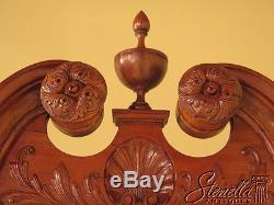 23601EC Antique Chippendale Carved Mahogany Claw Foot Corner Cabinet