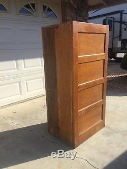 4 Drawer Globe-Wernicke upright wooden file cabinet in light oak