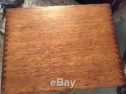 4 Drawer Oak 5x 8 Card File Catalog Cabinet Nice Dovetails