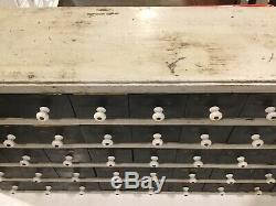 50 Drawer Antique apothecary Hardware cabinet