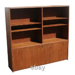 54 Danish SOBERG MOBLER Teak Bookcase Desk (MR10301)