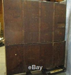 6' Country Store Showcase Display Cabinet Back Bar Barber Shop Kitchen Cupboard