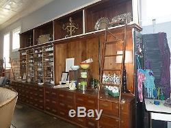 7 Piece Red Oak Cabinet Unit
