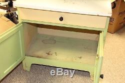 Antique Childrens Wood Hoosier Kitchen Cabinet- Salesman Sample