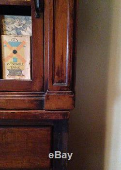ANTIQUE Drugstore Apothecary Cabinet 2 pcs Collections DISPLAY STORAGE Galore