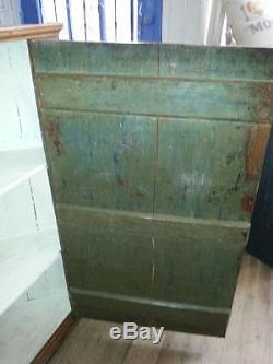 Antique English Pine Corner Cabinet Standing Or Hanging Large 45