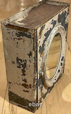 ANTIQUE INDUSTRIAL STEEL METAL MEDICINE CABINET with MIRROR Apothecary Steampunk