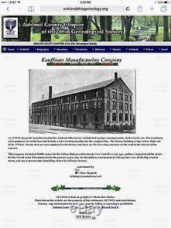 ANTIQUE KITCHEN CABINET EARLY 1900s KAUFMANN MANUFACTURING ASHLAND OHIO