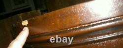 ANTIQUE OAK CURVED GLASS CHINA CUPBOARD WithBALL & CLAW FEET ESTATE AS IS BARGAIN