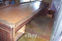 Antique Oak General Store Counter Desk Bar Vintage Original Unrestored Furniture