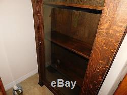 Antique Rare Mission Tiger Oak China Cabinet, Bookcase