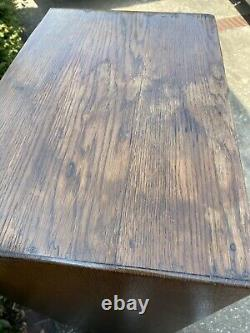 ANTIQUE VINTAGE OAK Roll Top CUBBY SORTING CABINET HOTEL POST OFFICE 51 X 20.5
