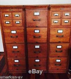 ANTIQUE Yawman & Erbe file cabinets Vintage