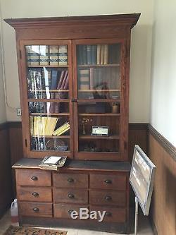 Apothecary Stepback Cabinet Outstanding! Very Old
