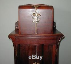 Art Nouveau Liquor Cabinet / Humidor / Gentleman's Entertainment Mahogany Chest