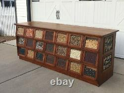 Aafa Antique Early General Country Store 21 Drawer Seed Bean Counter Advertising