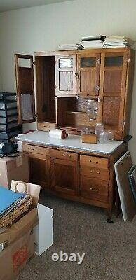 American Oak McDougall Hoosier type Kitchen Cabinet