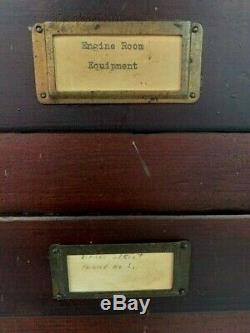 Antique 14 Drawer Flat File Storage Cabinet