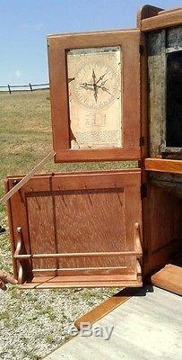 Antique 1900 HOOSIER OAK KITCHEN CABINET with Sugar Bin Flour Sifter