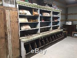 Antique 1900 S Country General Store Wall Cabinet Counter