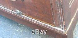 Antique 1914 Yawman & Erbe Quartersawn Tiger Oak Stacking Flat File Map Cabinet