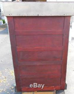 Antique 1920s DENTAL CABINET With 16 DRWERS & STAINESS COUNTER