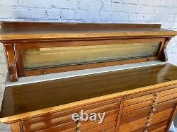 Antique 1920s Mahogany Dental Cabinet