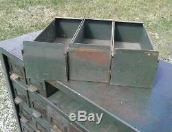 Antique 1930s Hobart Metal Cabinet 50 Drawers Troy, OH Industrial