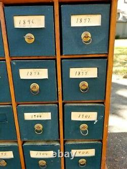 Antique 20 Drawer Apothecary Multi Drawer Cabinet US. Desk File & Cabinet Company
