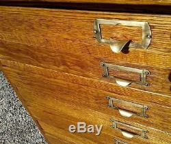 Antique 20 drawers oak map and blueprint cabinet divided flat file antique 20 drawers oak map and blueprint cabinet divided flat file circa 1920 malvernweather Images