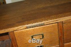 Antique 9-DRAWER Library Bureau Makers Card Catalog Cabinet 1920s table size