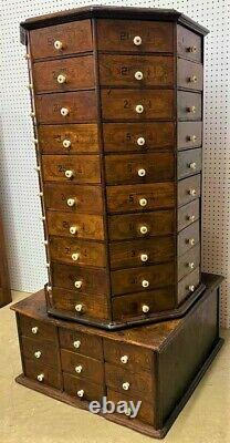 Antique American Bolt & Screw Co. Dayton Oh Octagon Hardware Cabinet 98 Drawer