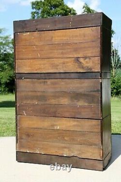 Antique Apothecary Cabinet 42 Drawer wood Oak Barrister Acers-Renfrow Chicago